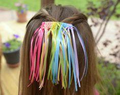 Rainbow Braided Barrette