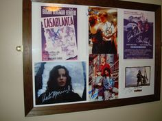 Iconic films and actors are displayed throughout our Bistro, with signatures sourced from all different genres of entertainment, sport, politics, royalty and general national and international treasures