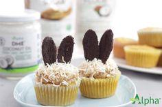 Coconut Bunny Cupcakes   Alpha Health Products