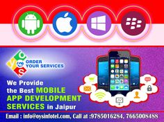 Get the best mobile app development services in Jaipur. Connect with the highly specialized mobile app developers.