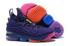 Nike LeBron 15 PE Purple Multi-Colour For Sale