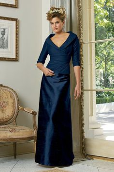 bridesmaids dresses - but tea length Watters.com