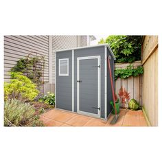 Keter Manor Shed Steel Grey 200x183x111cm - Masters Home Improvement