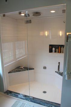 Contemporary shower by Eileen Kollias Design
