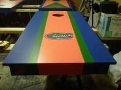 Florida #Gators custom cornhole game. Can't tailgate without one!