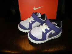 Brand New Toddler Girls Two Tone Purple Nike Flex Experience (TDV) Tennis Shoes #Nike #Athletic