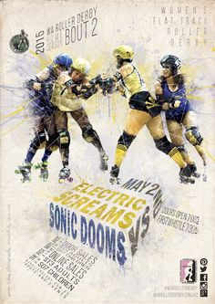 Home Season 2015 Bout 02 - 2nd May. Created by the talented Nixie Noir #bout #rollerderby