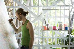 artist paul diddy at work in his echo park studio