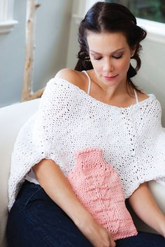 Great idea for a not so thick t-shirt yarn