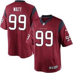 1cbc8a018 Nike Limited Men s Houston Texans  99 J.J. Watt Alternate Red NFL Jersey   89.99