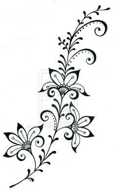 tattoo design 7 by on deviantART – Tattoo Pattern Henna Tattoo Designs, Designs Mehndi, Henna Tattoos, Art Tattoos, Embroidery Patterns, Hand Embroidery, Henna Patterns, 7 Tattoo, Swirl Tattoo