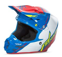 F2 Carbon MIPS Replica Canard Replica Blue/White/Red Helmets | FLY Racing | Motocross, MTB, BMX, Snowmobile Racewear; Street Apparel and Hard Parts