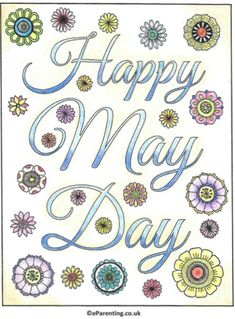 Free printable Happy May Day adult colouring picture. A hand-drawn mandala-style May Day colouring picture for you to print - enjoy! Colouring, Adult Coloring, May Day Baskets, Word Board, Happy May, May Days, Family Movies, Mother And Father, Favorite Holiday