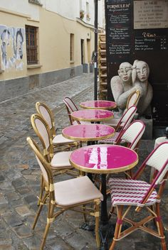 60 Shiny pink after the rain in Paris montmartre by LaPhoto4, $25.00