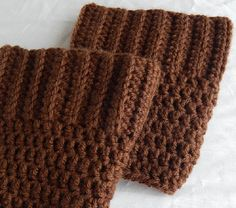 Brown Boot Cuffs Womens Crochet Boot Socks Knit Boot Toppers Fall and Winter Leg Warmers #etsy #accessories