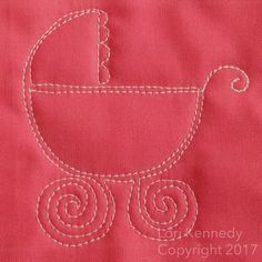 The Baby Carriage-A Free Motion Quilt Tutorial
