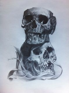 sketch skull par stephane bueno tatoueur studio black corner tattoo valence #tattoo #tattoos #sketch #sketches #sketchwork #skull #skulls #ink #inked #realistic #draw #drawing What To Draw, Tattoo Sketches, Skull Art, Art Boards, Skulls, Ink, Skeletons, Satan, Tattos