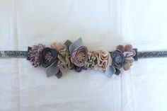 Festive Wool Felt Flower Crown // Silver // by fancyfreefinery