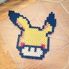 Pikachu Mushroom perler beads by jennifermay3594