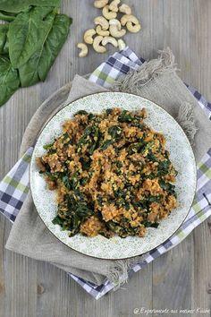 Experimente aus meiner Küche: Bulgur-Hackfleischpfanne mit Spinat --> 10 SP pro Portion