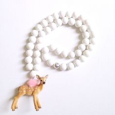 Pirates & Ponies White Bambi Necklace