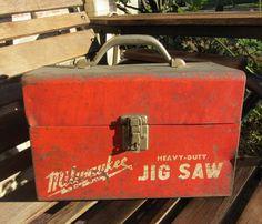 We love this VINTAGE Milwaukee Jigsaw Toolbox