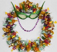 Mardi Gras Party Candy Wreath Edible by CandyWreathsbyCarla, $17.99