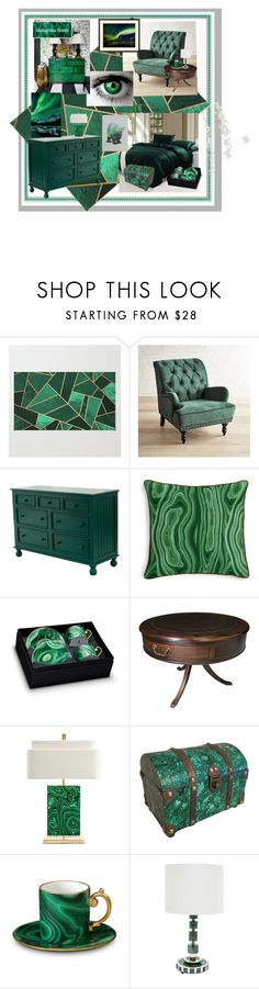 """""""Malachite Green Dreams"""" by aurorasblueheaven ❤ liked on Polyvore featuring interior, interiors, interior design, home, home decor, interior decorating, Pier 1 Imports, L'Objet, PèPè and fiftyshadesofgreen"""
