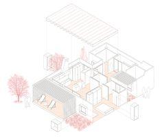 exploded isometric projection | House for Pau & Rocio | Arnau Tiñena…