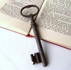 Large French Vintage Key, Antique Key, Big French Key, French Key for Home Decor, Theres Something about French Keys via Etsy
