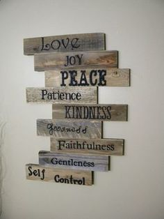 Wood Sign Pallet Sign Pallet Art Fruits of the by JNMRusticDesigns, $120.00