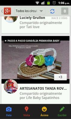 Lindas sandalias de bebe en crochet