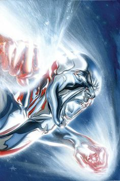 Marvel Comics: Silver Surfer by Gabrielle Dell'Otto Marvel Comic Character, Comic Book Characters, Comic Book Heroes, Marvel Characters, Comic Books Art, Marvel Comics Art, Marvel Heroes, Cosmic Comics, Jack Kirby