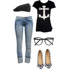 A fashion look from August 2012 featuring Wildfox t-shirts, Current/Elliott jeans and J.Crew flats. Browse and shop related looks.