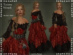 Tavern Wench BLACK-RED by ~Elvina-Ewing on deviantART