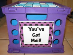 "Here's a terrific idea for handing back papers. Students check their ""mail"" each day or once a week to find their graded work."