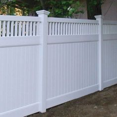 White privacy fence for compliment (38)