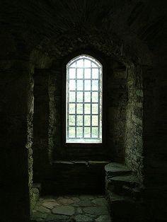 Foot of the stairs, Dolwyddelan Castle, Gwynedd, UK
