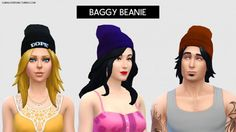 Baggy Beanies at LumiaLover Sims via Sims 4 Updates