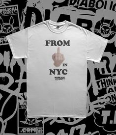 From F'n NYC Tee Diabolical Rabbit® White Tee