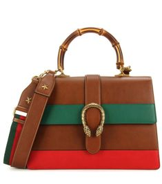 mytheresa.com - Dionysus Large striped leather shoulder bag - Bags - Gucci - Designers - Luxury Fashion for Women / Designer clothing, shoes, bags