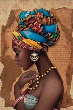 """LITOARTE - AF-286 - ARTE FRANCESA - """"AFRICANA COLAR AMARELO"""""""