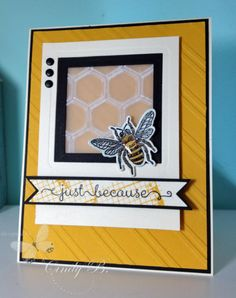 Honeycomb Just BeeCause by cindybstampin - Cards and Paper Crafts at Splitcoaststampers