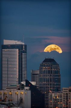 the supermoon over Seattle, spring 2012