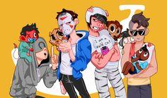 Banana Bus Squad, H2ODelirious, IAmWildcat, Ohmwrecker, Moosnuckle