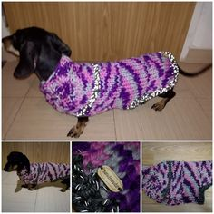 #knitted #Reflectiveyarn dog coat