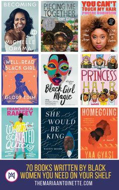 Books to read for women - 70 Books Written by Black Women You Need on Your Bookshelf Book Club Books, Book Lists, Good Books, My Books, Reading Lists, Book Clubs, Books To Buy, Books By Black Authors, Black Books