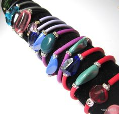 This spring colorful your life with these fabulous rubber bracelets!