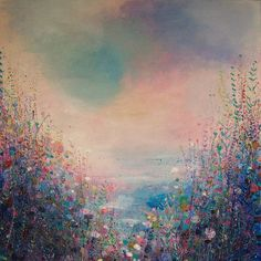 "Saatchi Art Artist: Sandy Dooley; Acrylic 2013 Painting ""Blue Horizon (sold)"""