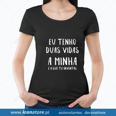 T-shirt Eu tenho duas vidas (Mulher)